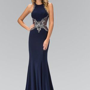 High Neck Sleeveless Evening Dress GSGL1357